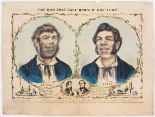 "The Man That Gave Barnum His ""Turn"", Currier & Ives"