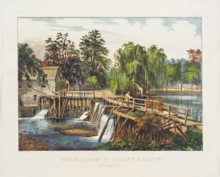 "The Mill-Dam At ""Sleepy Hollow"", Currier & Ives"