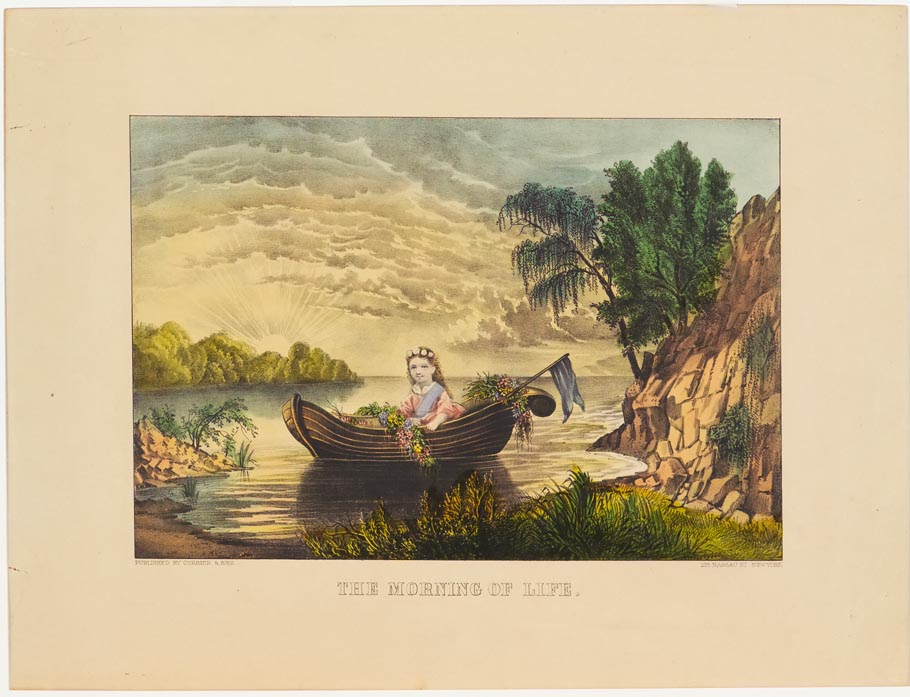 Young girl seated in rowboat