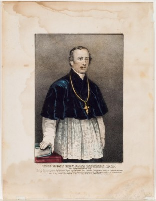 The Most Rev. John Hughes, D.D., Currier & Ives