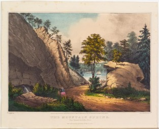 The Mountain Spring. Near Cozzen's Dock, West Point, Currier & Ives