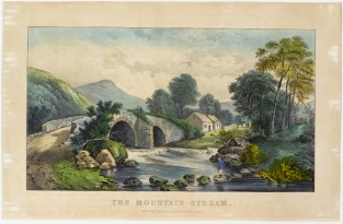 The Mountain Stream, Currier & Ives