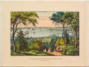 The Narrows, New York Bay. From Staten Island, Currier & Ives