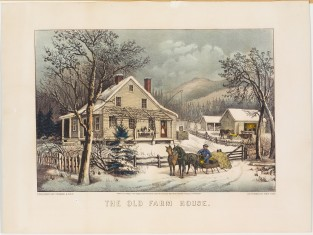 The Old Farm House, Currier & Ives