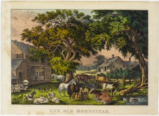 The Old Homestead, Currier & Ives