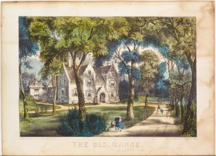 The Old Manse, Currier & Ives