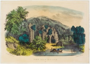 The Old Ruins, Currier & Ives