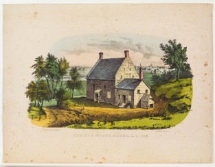 The Old Stone House, L.I., 1699, Nathaniel Currier