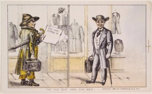 The Old Suit And The New, Currier & Ives