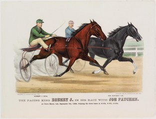 "The Pacing King ""ROBERT J."" In His Race With JOE PATCHEN., Currier & Ives"