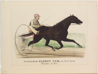 The Pacing Wonder SLEEPY TOM. The Blind Horse. Record 2:12 1/4, Currier & Ives