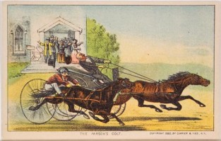 The Parson's Colt, Currier & Ives