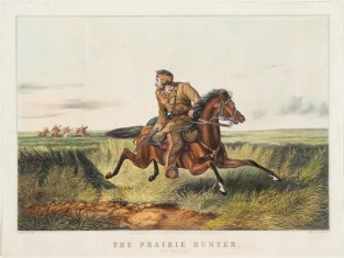 "The Prairie Hunter. ""One Rubbed Out!"", Nathaniel Currier"