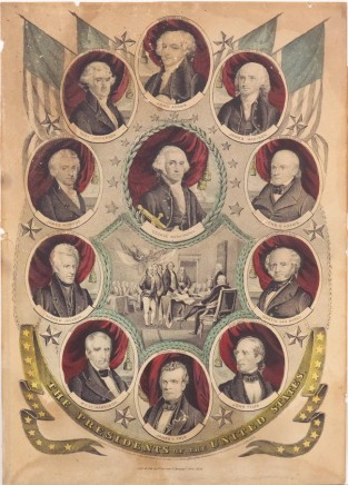 The Presidents Of The United States. (from 1789-1797), Nathaniel Currier