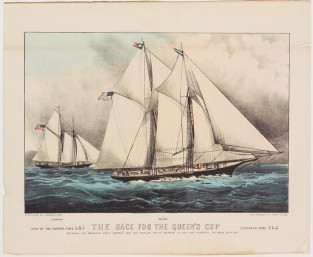 The Race For The Queen's Cup, Currier & Ives