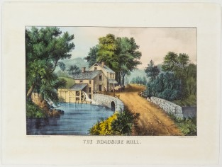 The Roadside Mill, Currier & Ives
