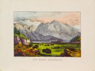 The Rocky Mountains, Currier & Ives