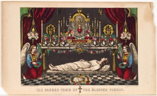 The Sacred Tomb Of The Blessed Virgin, Currier & Ives