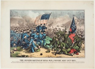 The Second Battle Of Bull Run, Fought Aug 29th 1862, Currier & Ives