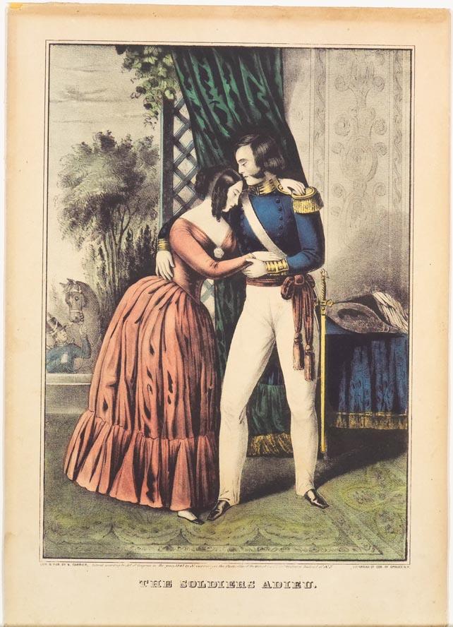 Man and woman standing inside doorway
