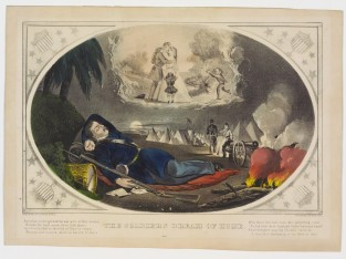 The Soldier's Dream Of Home, Currier & Ives
