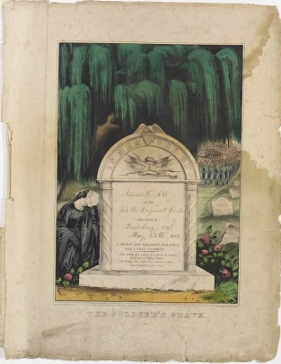 The Soldier's Grave – In Memory Of Adam S. Alt., Currier & Ives