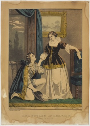 The Stolen Interview. Romeo And Juliet., Currier & Ives