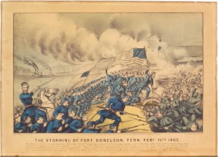 The Storming Of Fort Donelson, Tenn. Feby 15th 1862, Currier & Ives