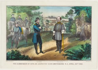 The Surrender Of Genl Joe Johnston Near Greensboro N. C. April 26th 1865, Currier & Ives