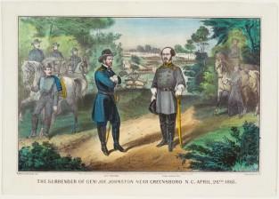 The Surrender Of Genl Joe Johnston Near Greensboro N. C. April 26th 1865, Currier & Ives