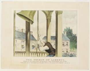 "The Tocsin Of Liberty. Rung By The State House Bell, (Independence Hall;) Philadelphia, July 4th 1776 ""Proclaims Liberty Throughout All The Land, Unto All The Inhabitants Thereof."" LEV.XXV.10, Currier & Ives"