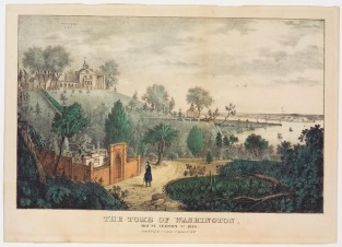 The Tomb Of Washington. Mount Vernon, VA. 1840, Nathaniel Currier