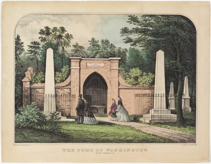 The Tomb of Washington. Mount Vernon, VA, Currier & Ives ...