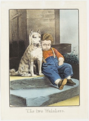 The Two Watchers., Currier & Ives