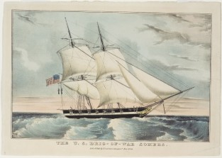 The U.S. Brig-Of-War SOMERS, Nathaniel Currier
