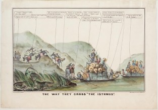 """The Way They Cross """"The Isthumus"""", Nathaniel Currier"""