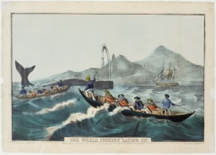 "The Whale Fishery ""Laying On"", Nathaniel Currier"