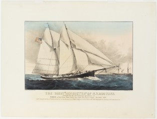 "The Yacht ""HENRIETTA"" Of N.Y. 205 Tons., Currier & Ives"