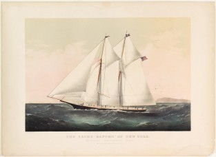 "The Yacht ""Sappho"" Of New York, Currier & Ives"