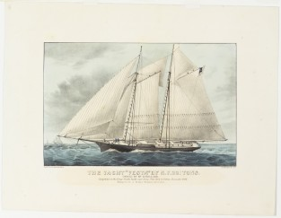 "The Yacht ""VESTA"" Of N.Y. 201 Tons. Owned By Mr. Lorillard., Currier & Ives"