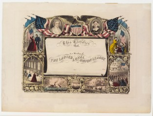 This Certifies That, The Ladies Loyal Union League, Currier & Ives