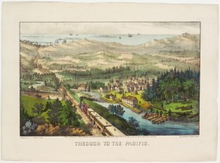 Through To The Pacific, Currier & Ives