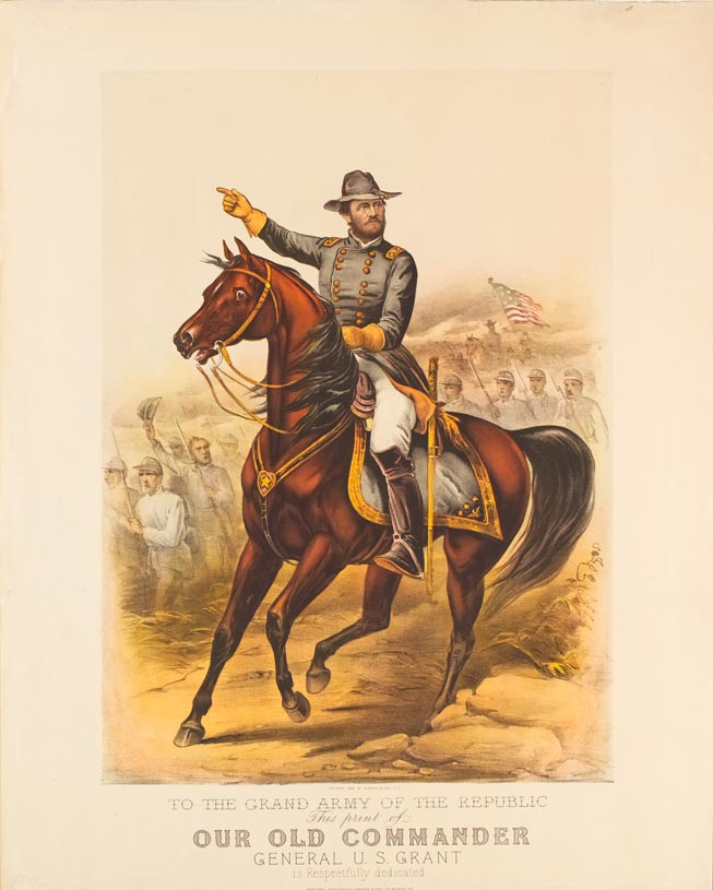 Officer on horse in foreground (officer facing to right