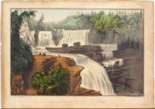 Trenton High Falls, Currier & Ives