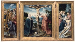 Triptych With The Crucifixion, Goswijn Van Der Weyden