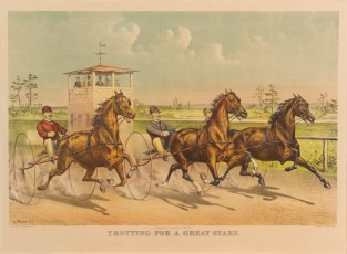 Trotting For A Great Stake, Currier & Ives