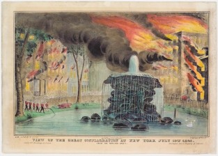 View Of The Great Conflagration At New York July 19th, 1845., Nathaniel Currier