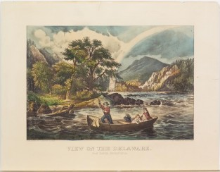 View On The Delaware. Near Easton, Pensylvania, Currier & Ives