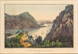 View On The Hudson. Crow's Nest, Currier & Ives