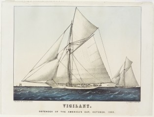 Vigilant. Defender Of The America's Cup, October, 1893, Currier & Ives